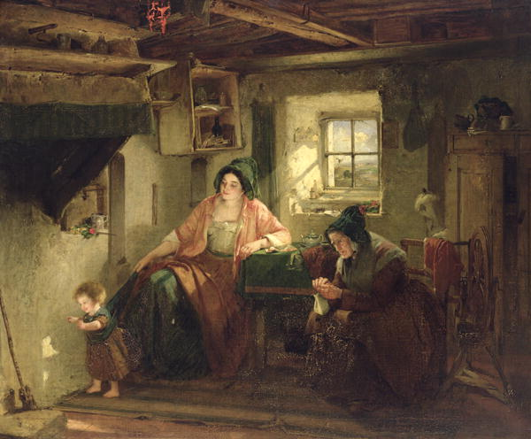 The Ray of Sunlight 1857 | Thomas Faed | oil painting