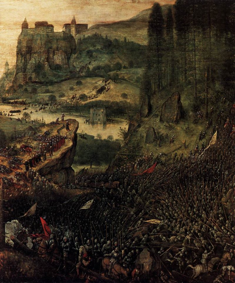 The Suicide of Saul (detail) 1562 | Pieter The Elder Bruegel | oil painting