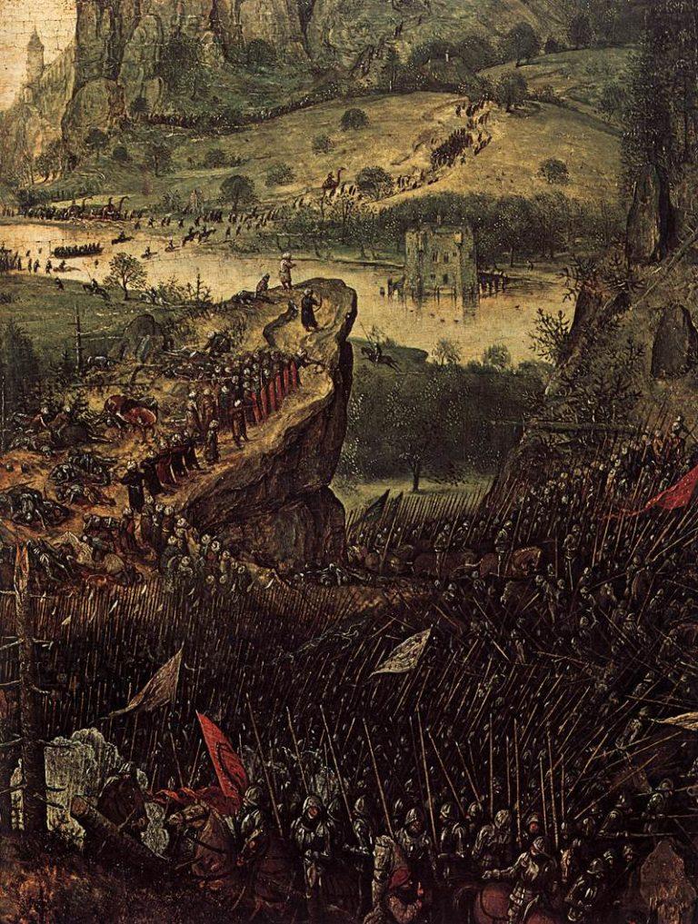 The Suicide of Saul (detail) 1562   Pieter The Elder Bruegel   oil painting