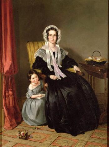 The Reading Lesson | John Callcott Horsley | oil painting