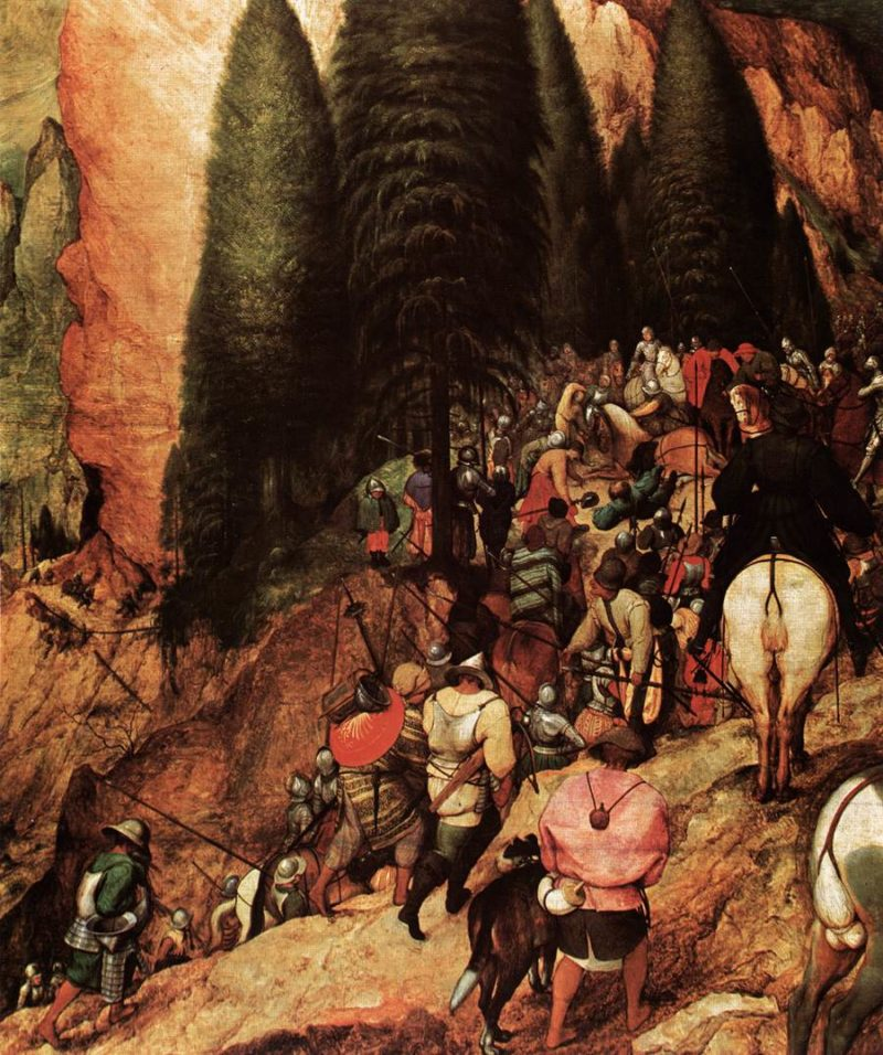 The Conversion of Saul (detail) 1567   Pieter The Elder Bruegel   oil painting