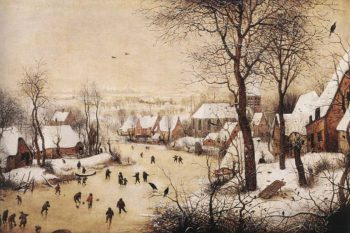 Winter Landscape with Skaters and Bird Trap 1565 | Pieter The Elder Bruegel | oil painting