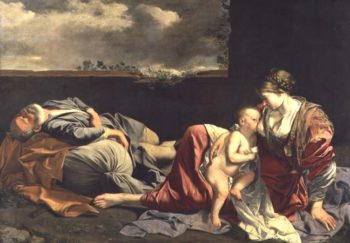 The Rest on the Flight into Egypt 1628 | Orazio Gentileschi | oil painting