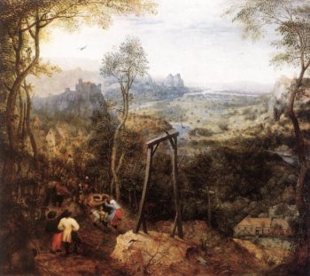 Magpie on the Gallow 1568 | Pieter The Elder Bruegel | oil painting