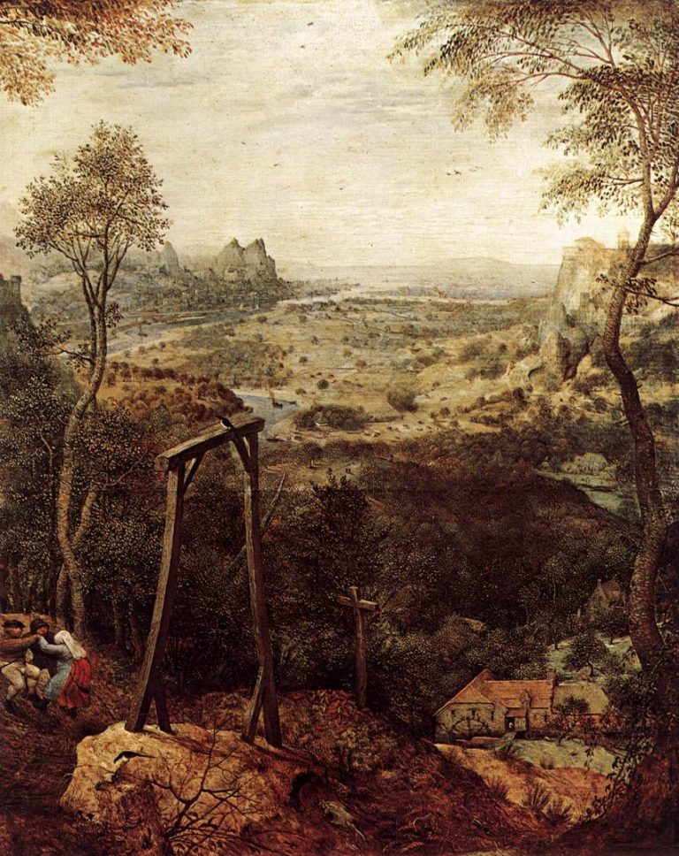 Magpie on the Gallow (detail) 1568 | Pieter The Elder Bruegel | oil painting