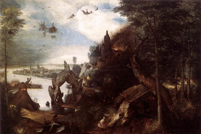 The Temptation of St Anthony 1557   Pieter The Elder Bruegel   oil painting