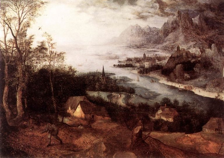 Landscape with the Parable of the Sower 1557 | Pieter The Elder Bruegel | oil painting