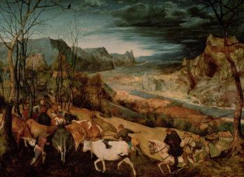 The Return of the Herd   Pieter the Elder Brueghel   oil painting