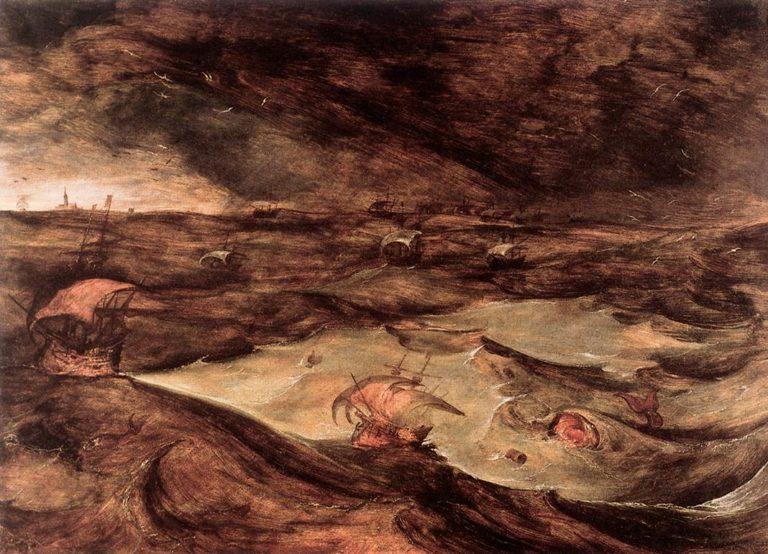 Storm at Sea 1568 | Pieter The Elder Bruegel | oil painting