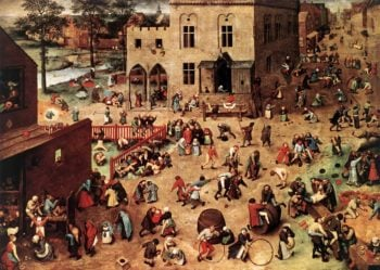 Children's Games 1559-60 | Pieter The Elder Bruegel | oil painting