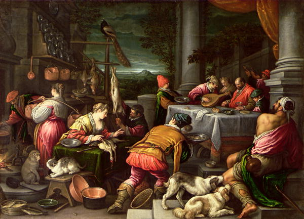 The Rich Man and Lazarus 1590 95 | Leandro da Ponte Bassano | oil painting