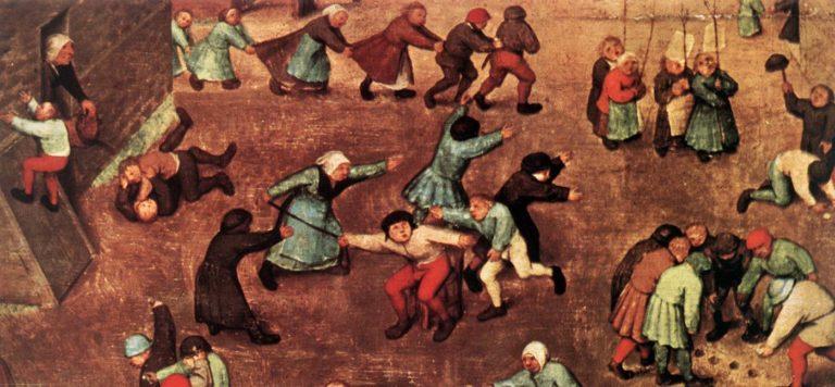 Children's Games (detail) 1559-60   Pieter The Elder Bruegel   oil painting