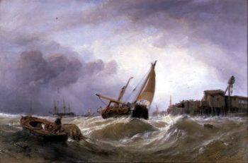 The River Texel | William Clarkson Stanfield | oil painting