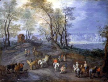 The Road to the Market | Jan Brueghe | oil painting