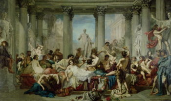 The Romans of the Decadence 1847 | Thomas Couture | oil painting