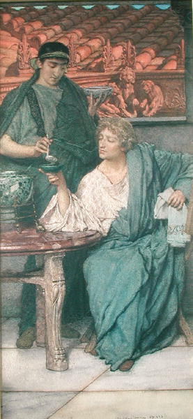 The Roman Wine Tasters | Sir Lawrence Alma Tadema | oil painting