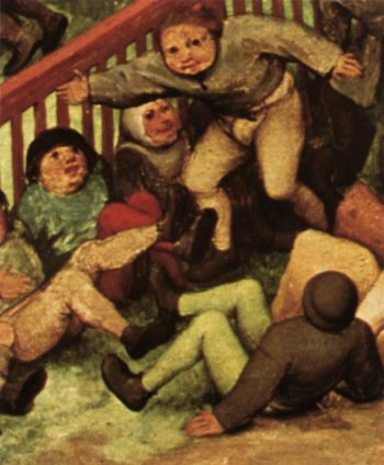 Children's Games (detail) 1559-60 | Pieter The Elder Bruegel | oil painting
