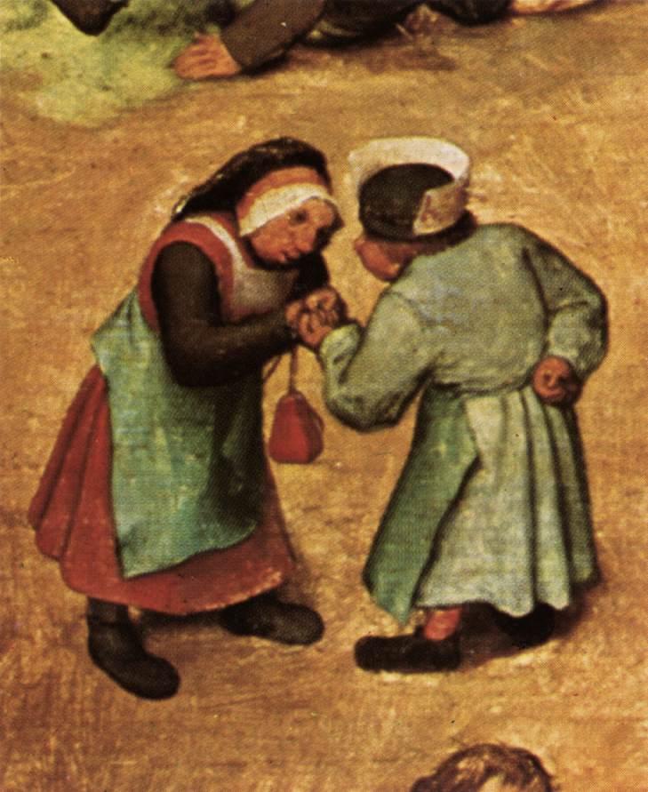 Children's Games (detail) 1559-60 | Pieter The Elder Bruegel | oil painting