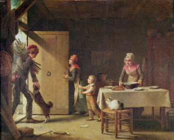 The Rustic Family 1815 | Martin Drolling | oil painting