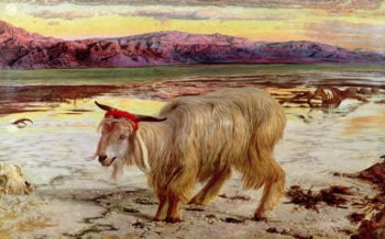 The Scapegoat 1854 | William Holman Hunt | oil painting