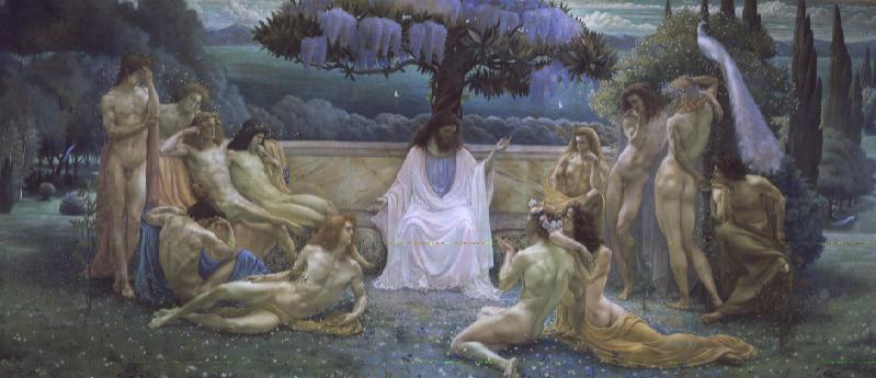 The School of Plato 1898 | Jean Delville | oil painting