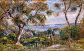 The Sea at Cagnes 1910 | Pierre Auguste Renoir | oil painting