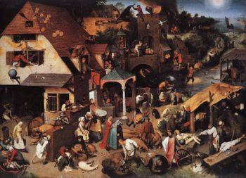 Netherlandish Proverbs 1559 | Pieter The Elder Bruegel | oil painting