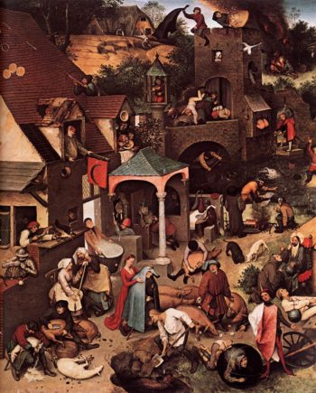 Netherlandish Proverbs (detail) 1559 | Pieter The Elder Bruegel | oil painting