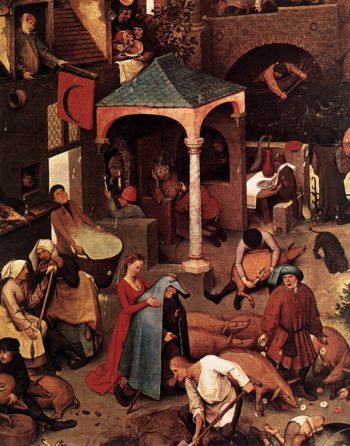 Netherlandish Proverbs (detail) 1559 | Pieter The Elder Bruegel | oil painting