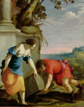Theseus Finding his Father's Sword 1634 | Laurent de La Hire or La Hyre | oil painting