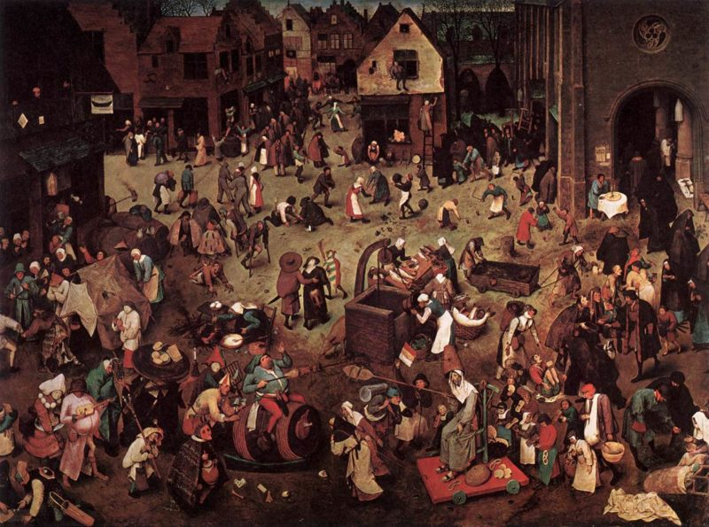 The Fight between Carnival and Lent 1559   Pieter The Elder Bruegel   oil painting