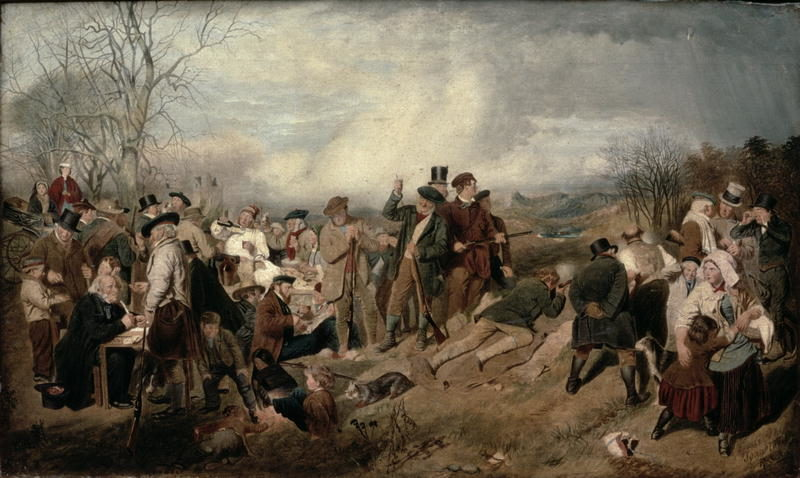 The Shooting Match   John Faed   oil painting