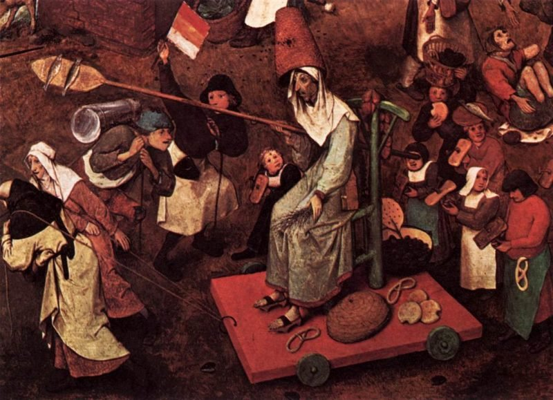 The Fight between Carnival and Lent (detail) 1559 | Pieter The Elder Bruegel | oil painting