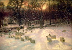 The Shortening Winter's Day is Near a Close | Joseph Farquharson | oil painting