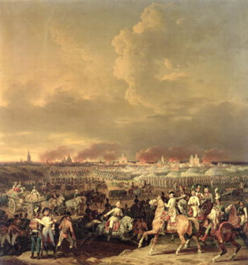The Siege of Lille by Albert de Saxe Tachen 8th October 1792 1845 | Hippolyte Lecomte | oil painting