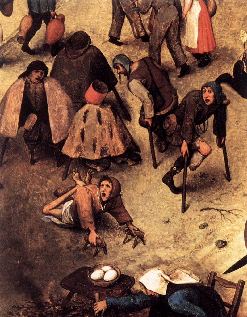 The Fight between Carnival and Lent (detail) 1559   Pieter The Elder Bruegel   oil painting
