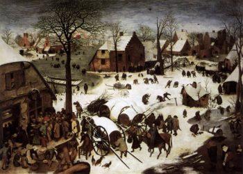 The Numbering at Bethlehem 1566 | Pieter The Elder Bruegel | oil painting