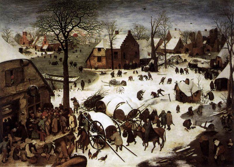 The Numbering at Bethlehem 1566   Pieter The Elder Bruegel   oil painting