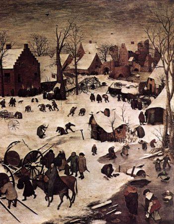 The Numbering at Bethlehem (detail) 1566 | Pieter The Elder Bruegel | oil painting