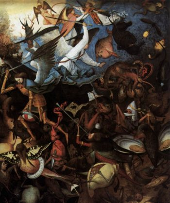 The Fall of the Rebel Angels (detail) 1562 | Pieter The Elder Bruegel | oil painting