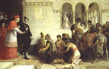 The Supplicants The Expulsion of the Gypsies from Spain 1872 | Edwin Longsden Long | oil painting