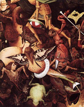 The Fall of the Rebel Angels (detail) 1562 | Pieter The Elder Bruegel | oil painting