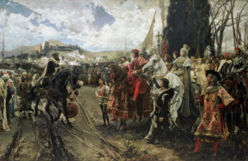 The Surrender of Granada in 1492 | Francisco Pradilla y Ortiz | oil painting