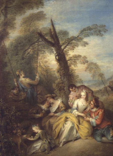 The Swing 1730s | Jean Baptiste Joseph Pater | oil painting