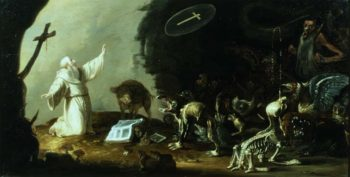 The Temptation of St Anthony | Cornelis Saftleven | oil painting