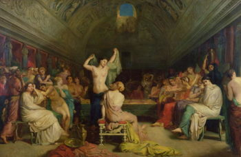 The Tepidarium 1853   Theodore Chasseriau   oil painting