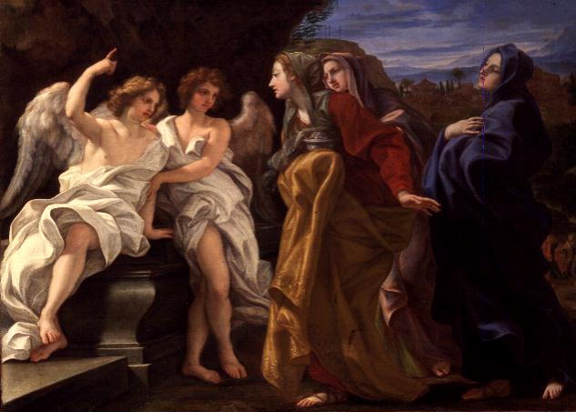 The Three Marys at the Sepulchre 1684 85 | Il Baciccio | oil painting
