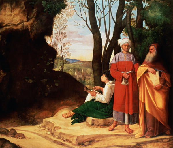 The Three Philosophers | Giorgione | oil painting