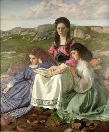 The Three Sisters of Dean Liddell | Sir William Blake Richmond | oil painting