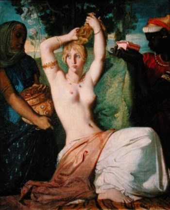The Toilet of Esther 1841   Theodore Chasseriau   oil painting